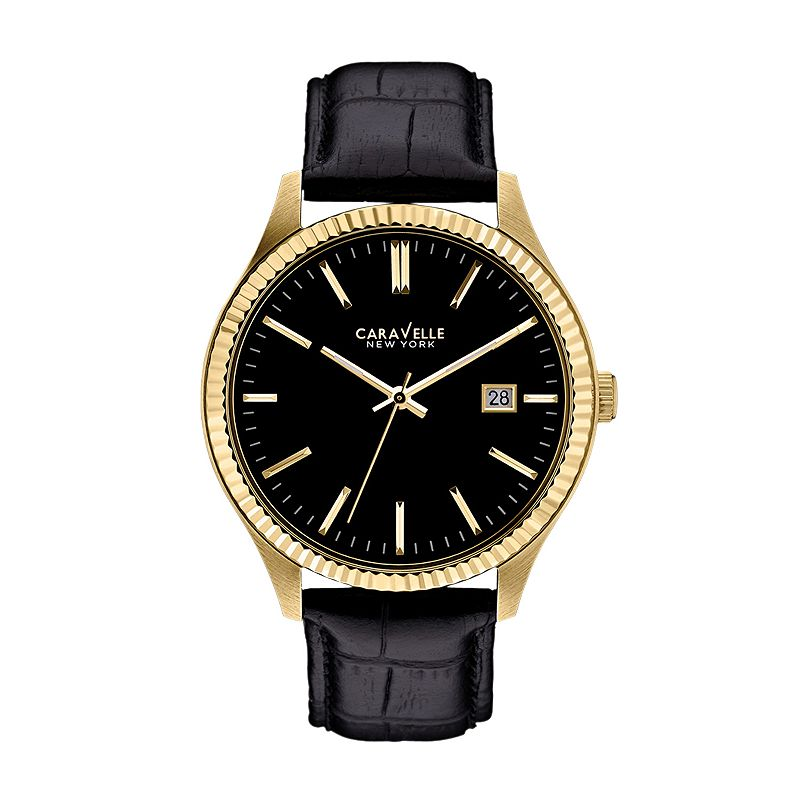 Caravelle New York by Bulova Watch - Men's Leather