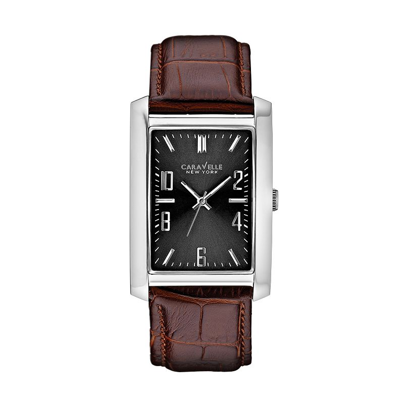 Caravelle New York by Bulova Men's Leather Watch - 43A119