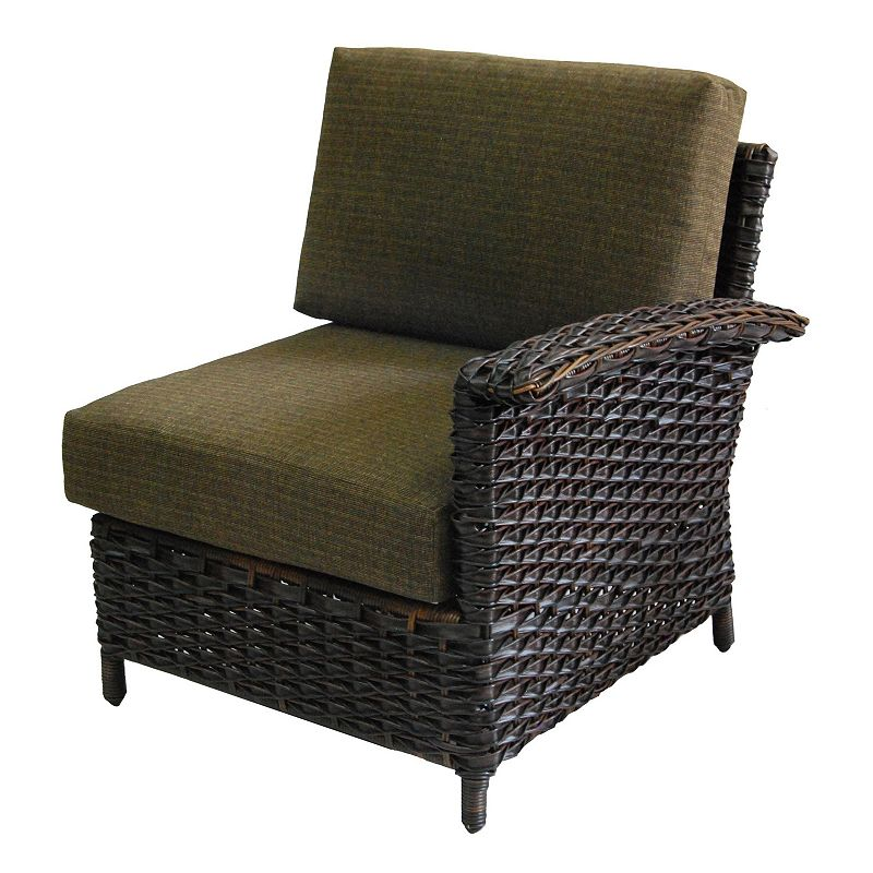 SONOMA Goods for Life™ Mendicino Wicker Left Arm Lounge Chair & Cushions