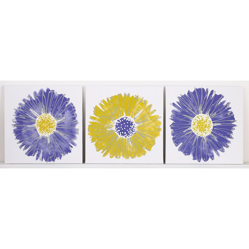 Cotton Tale Periwinkle 3-pk. Wall Hangings