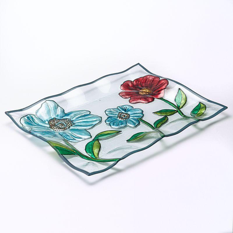 Pfaltzgraff Harker Rectangular Glass Serving Platter