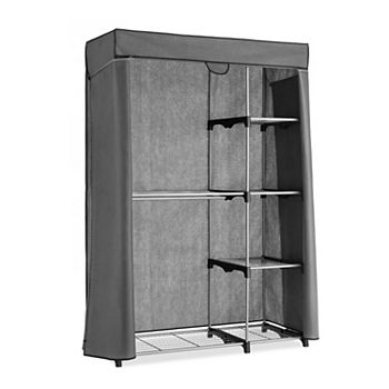 Whitmor Deluxe Covered Double Hang Utility Closet