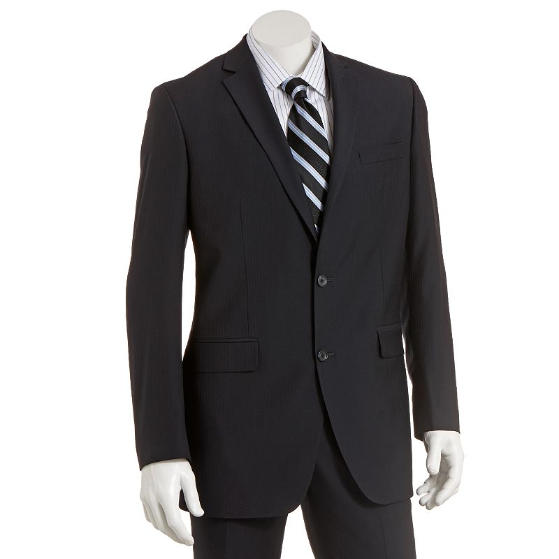 Men's Marc Anthony Modern-Fit Pinstripe Wool Navy Suit Jacket