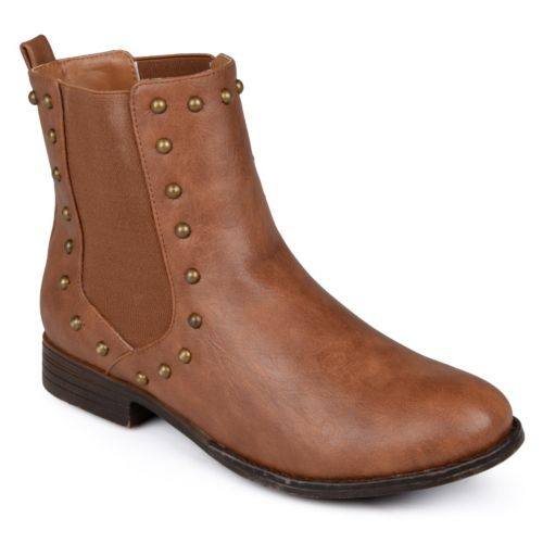 Journee Collection Bend Studded Booties - Women