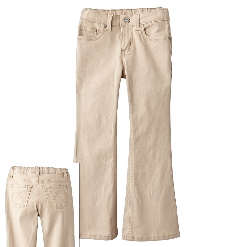 Girls 4-7 SONOMA Goods for Life™ Sandy Tan Bootcut Jeans