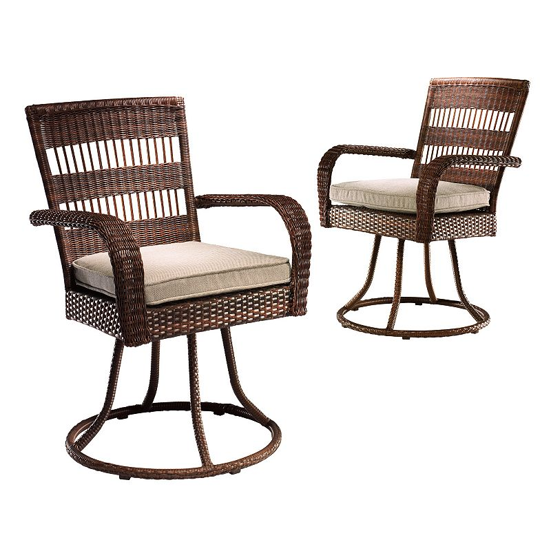 SONOMA outdoors Presidio 2-pc. Swivel Patio Dining Chair Set, Brown