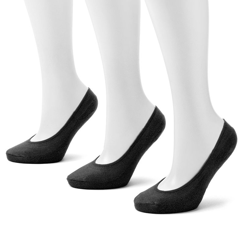 Apt. 9® 3-pk. Seamless No-Show Liner Socks