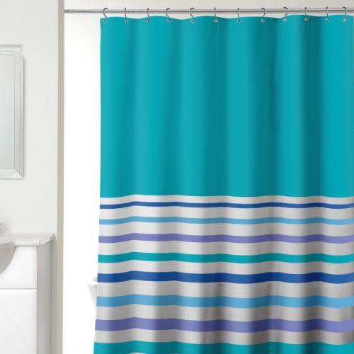 Ribbon Stripe Fabric Shower Curtain