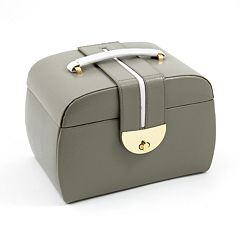 Bey-Berk Olive Leather Jewelry Box & Travel Roll Set