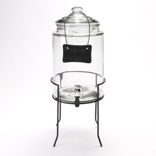 SONOMA life + style® 1.5-Gal. Glass Beverage Dispenser with Stand & Chalkboard