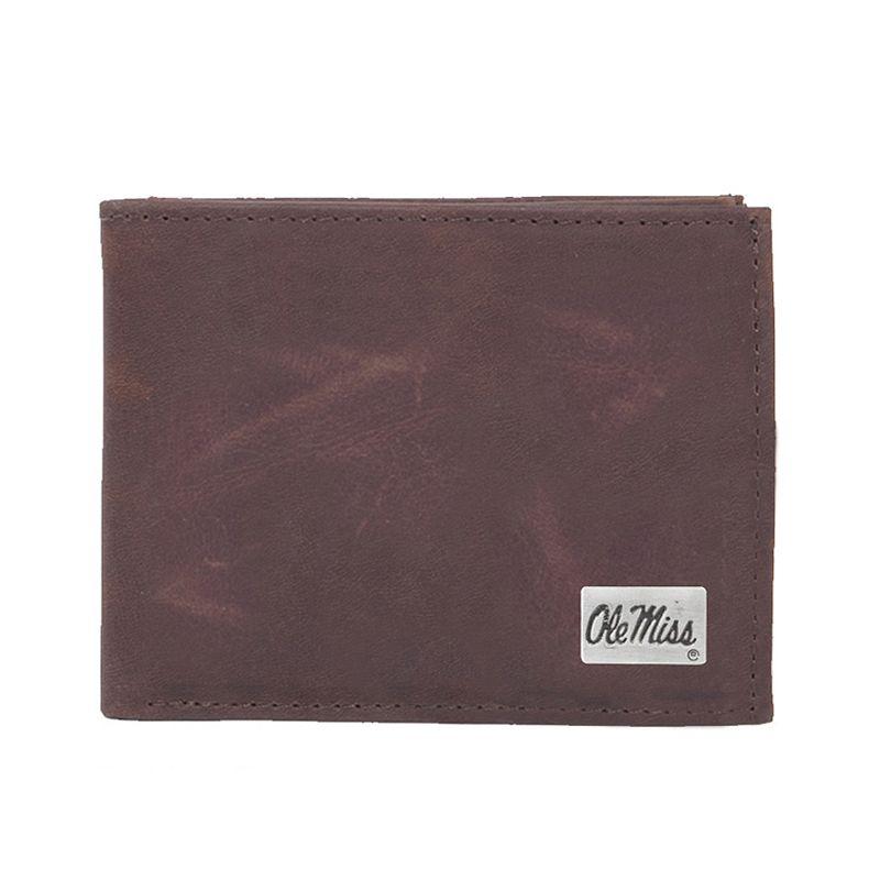 Ole Miss Rebels Leather Bifold Wallet