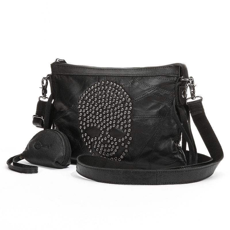 AmeriLeather Sheena Skulls Convertible Crossbody Bag