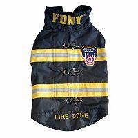 Royal Animals FDNY Fire Badge Dog Coat