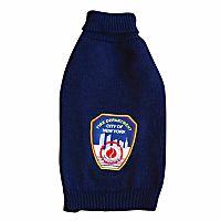 Royal Animals FDNY Fire Badge Dog Turtleneck Sweater