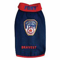 Royal Animals FDNY Fire Badge Dog Sweatshirt