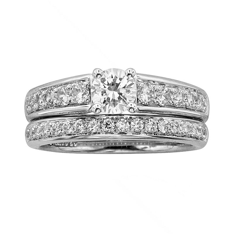 IGL Certified Diamond Engagement Ring Set in 14k White Gold (1 1/4 ct. T.W.)