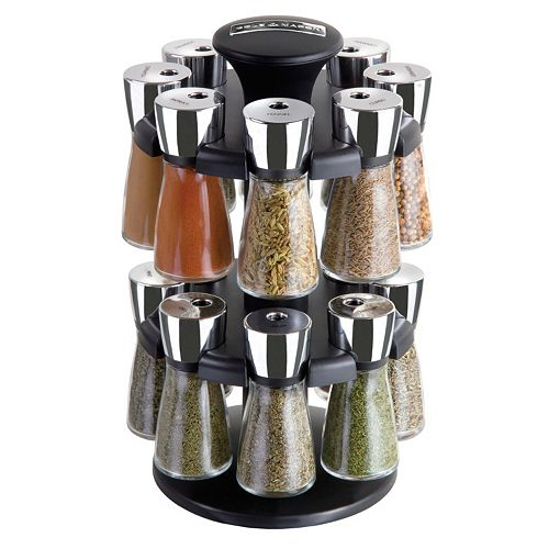 cole and mason 16 jar herb and spice rack carousel. Black Bedroom Furniture Sets. Home Design Ideas