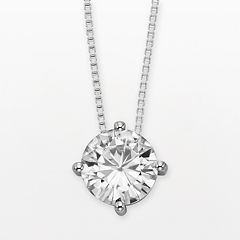 Forever Brilliant 14k White Gold Round-Cut 1 9/10-ct. T.W. Lab-Created Moissanite Pendant by