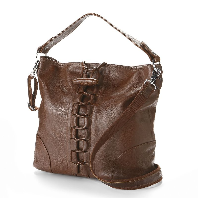 AmeriLeather Mandy Leather Laced Convertible Tote