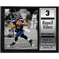 Seattle Seahawks Russell Wilson Stat Plaque