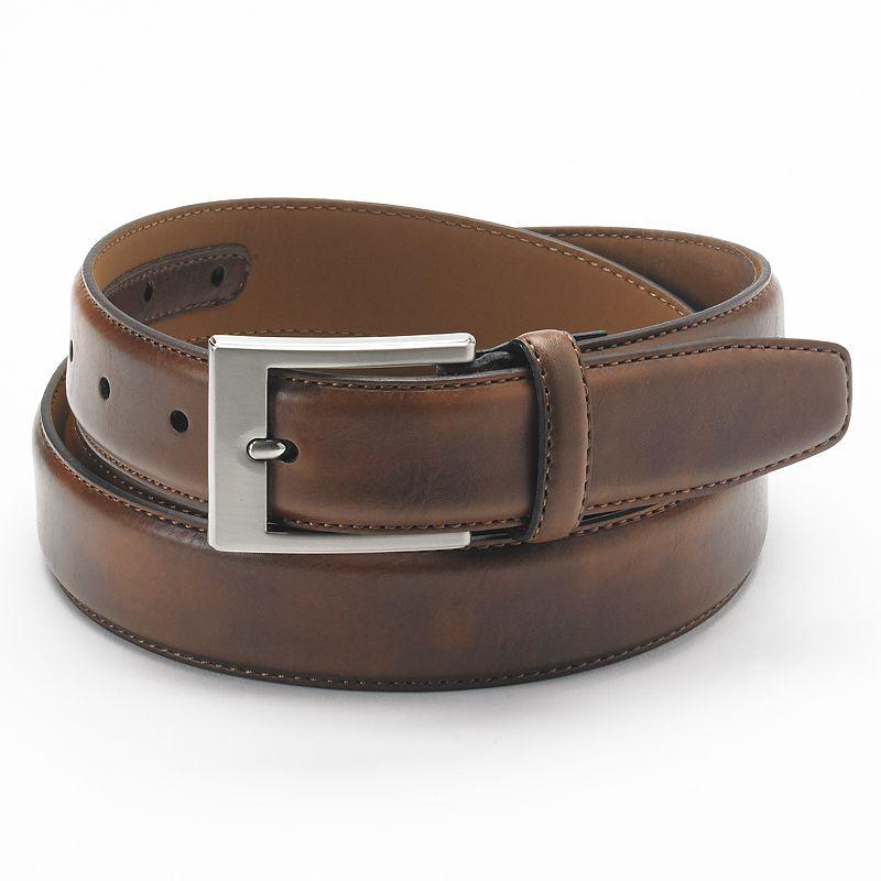 Big & Tall Croft & Barrow® Stitched Soft-Touch Leather Belt