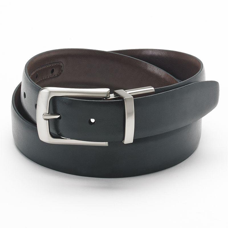 Big & Tall Croft & Barrow® Stitched Reversible Leather Belt