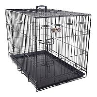 Majestic Pet 48-in. Double Door Folding Pet Crate