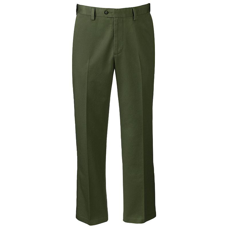 Men's Croft & Barrow® Classic-Fit No-Iron Flat-Front Pants