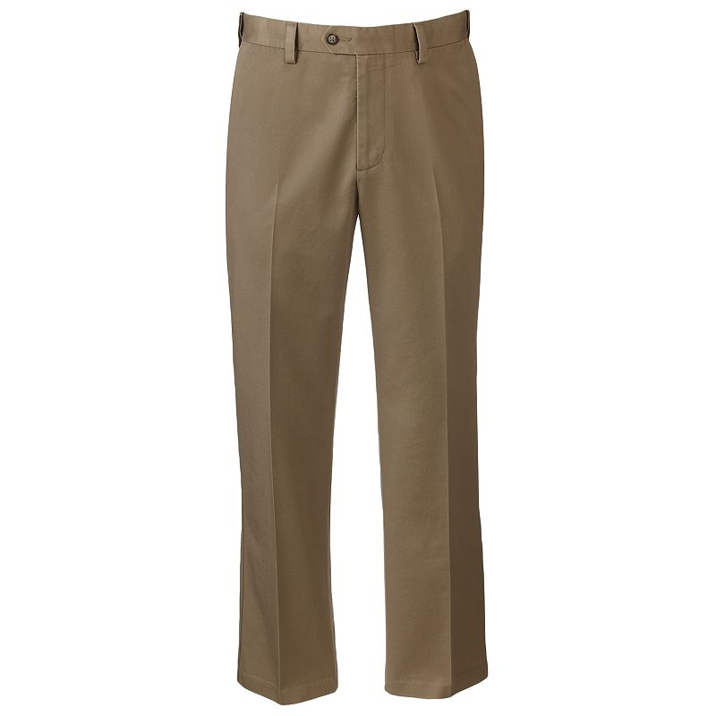 Men's Croft & Barrow® Classic-Fit No-Iron Flat-Front Pants