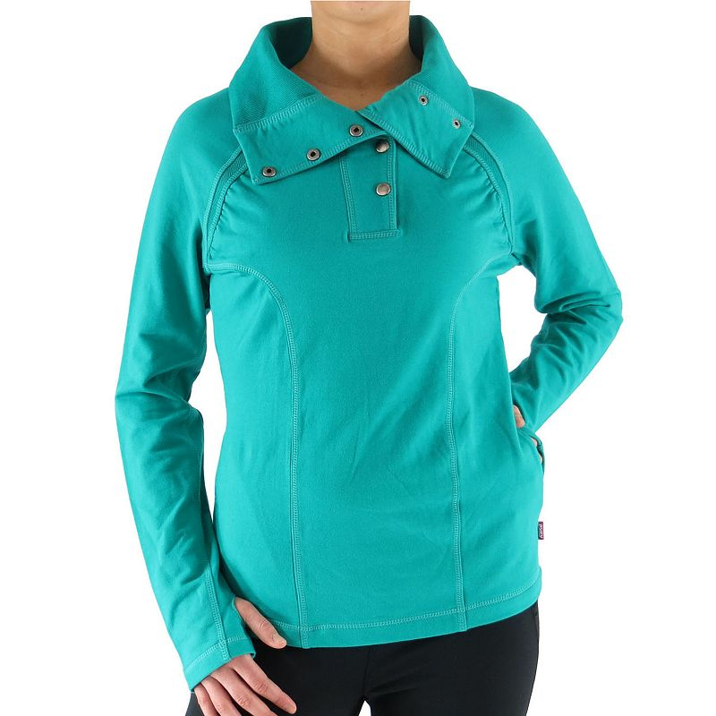 Plus Size Ryka French Terry Snap Pullover