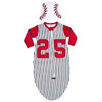 Sozo Striped Baseball Bunting & Cap Set