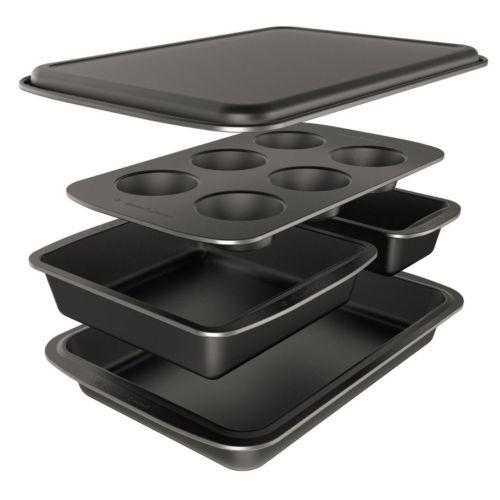 Baker's Secret Easy Store 5-pc. Nonstick Bakeware Box Set