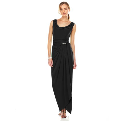 Chaps Embellished Faux-Wrap Eve