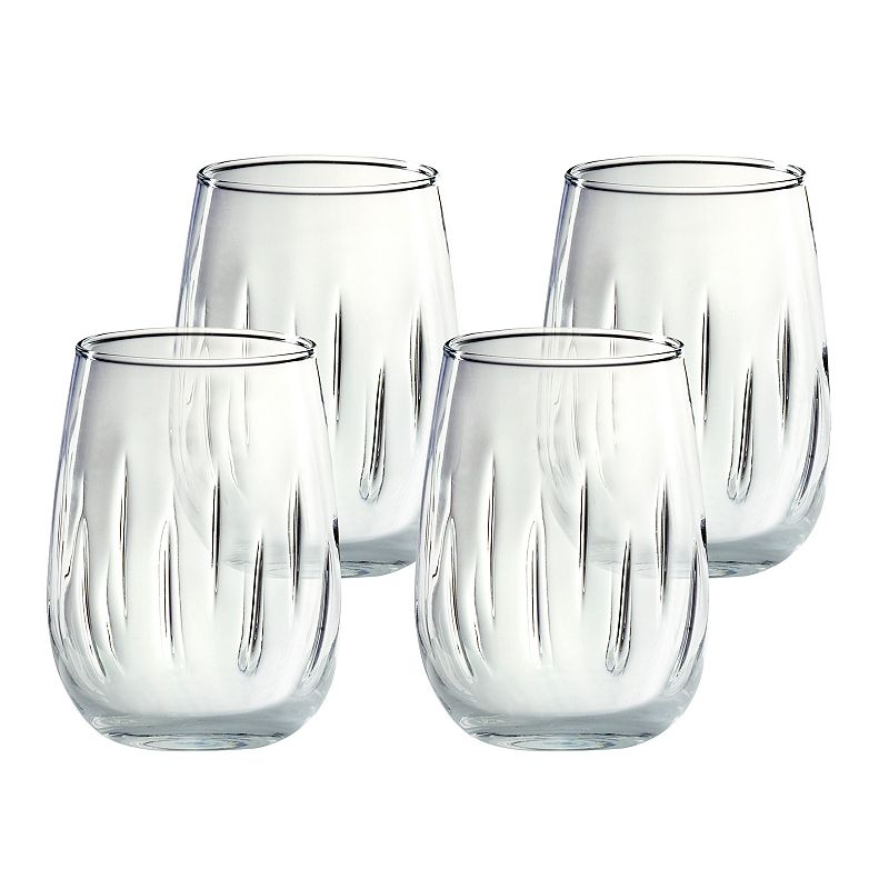 Amici by Global Amici 4-pc. Aerating Stemless Wine Glass Set