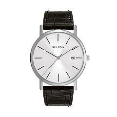 Bulova Men's Dress Leather Watch 96B104 by