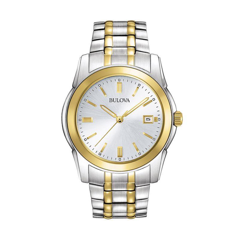 Bulova Men's Dress Two Tone Stainless Steel Watch - 98H18