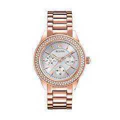 Bulova Women's Crystal Stainless Steel Watch 97N101