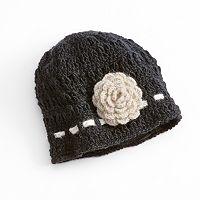 SIJJL Crochet Flower Wool Beanie
