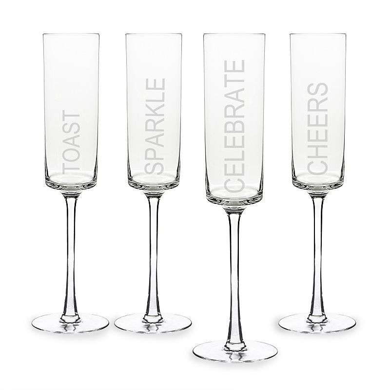 Cathy's Concepts 4-pc. Celebrate Contemporary Champagne Flute Set