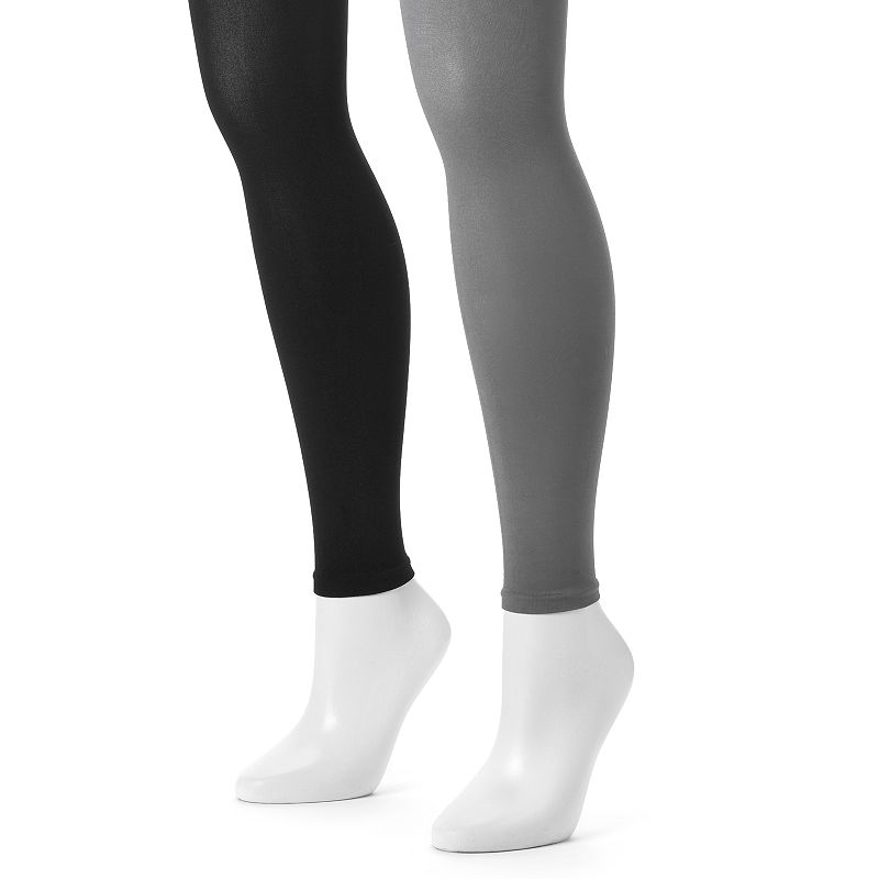 MUK LUKS 2-pk. Footless Microfiber Tights
