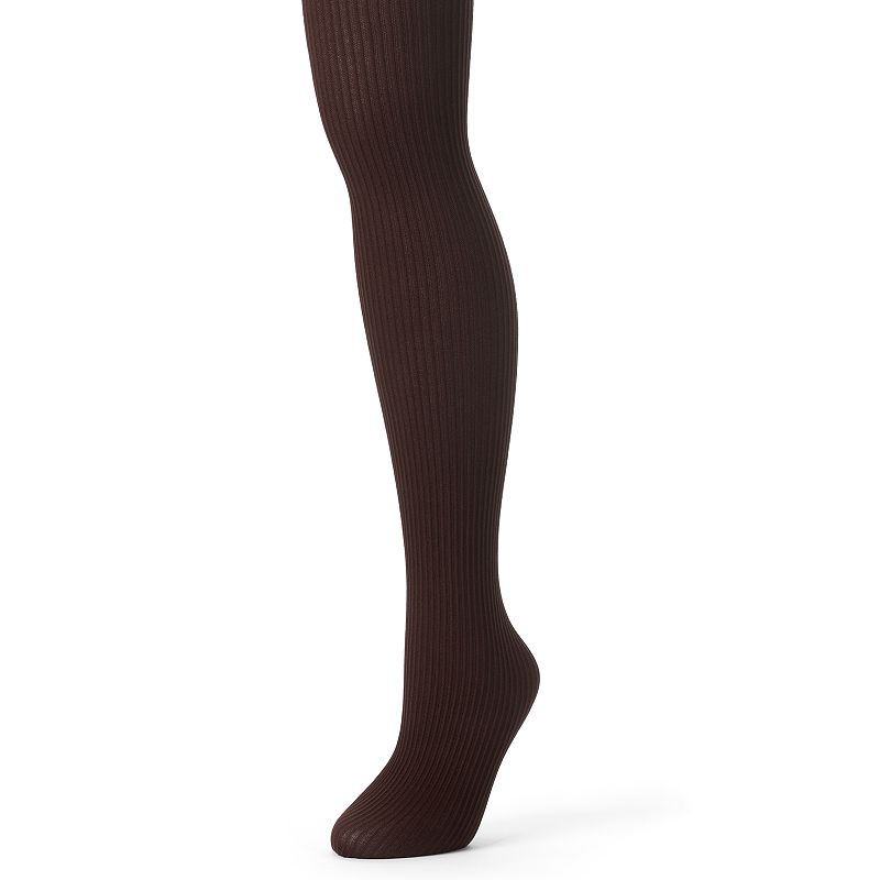 MUK LUKS Ribbed Microfiber Tights