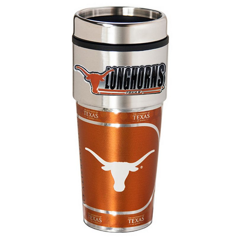 Texas Longhorns Stainless Steel Metallic Travel Tumbler