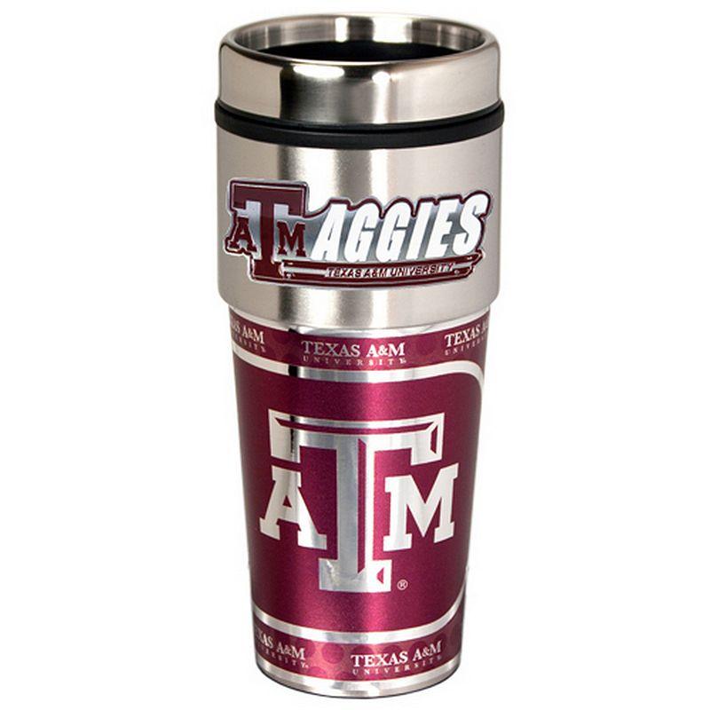Texas A and M Aggies Stainless Steel Metallic Travel Tumbler
