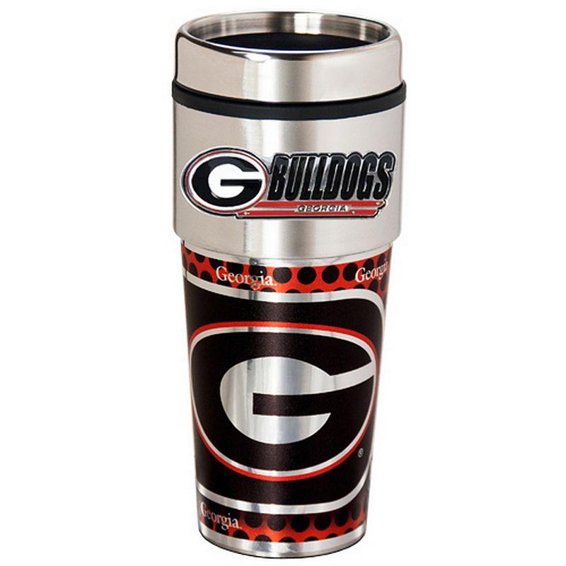 Georgia Bulldogs Stainless Steel Metallic Travel Tumbler