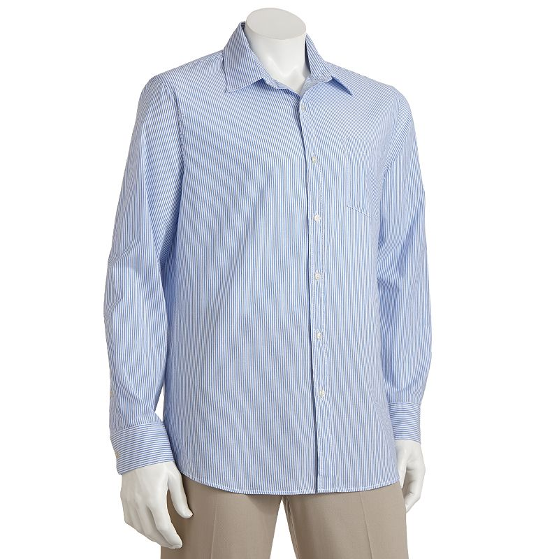 Big & Tall SONOMA Goods for Life™ Striped Poplin Casual Button-Down Shirt