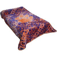 College Covers Clemson Tigers Raschel Throw Blanket