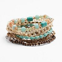 Mudd® Seed Bead Stretch Bracelet Set