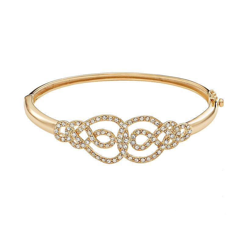 AMORE by SIMONE I. SMITH 18k Gold Over Silver Crystal Infinity Bangle Bracelet