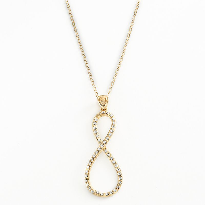 AMORE by SIMONE I. SMITH 18k Gold Over Silver Crystal Infinity Pendant