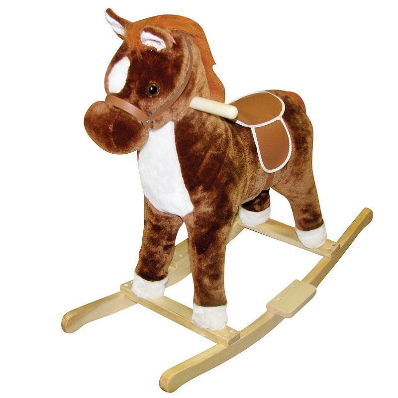 Charm Company Brown Pinto Rocking Horse